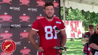 Chiefs training camp 2019: TE Blake Bell speaks to the media
