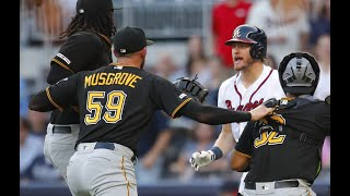 Braves Pirates Benches Clearing Fight 3 Ejected! 2019