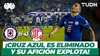 ¡Cruz Azul es ELIMINADO y su afición invade la cancha! | CruzAzul vs Toluca - AP2013 | TUDN