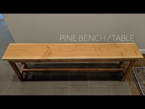 DIY Pine Table / Bench | NATHAN BUILDS