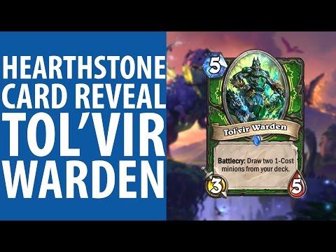 Hearthstone: Journey to Un'Goro card reveal - Tol'vir Warden