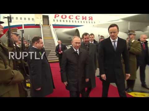Hungary: Putin lands in Budapest for talks with Viktor Orban