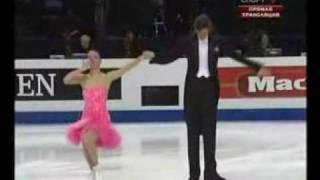 vuclip Championnats Europe Heilsinki 2009 Ekaterina Rubleva et Shefer, nip slip, sein nu