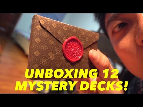 Unboxing 12 of Dan and Dave Mystery Decks!