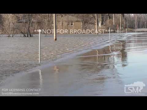 03/17/19 East Moline Illinois Rock River Flooding