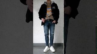 데일리 울 모직 후드 탈부착 코치자켓-블랙