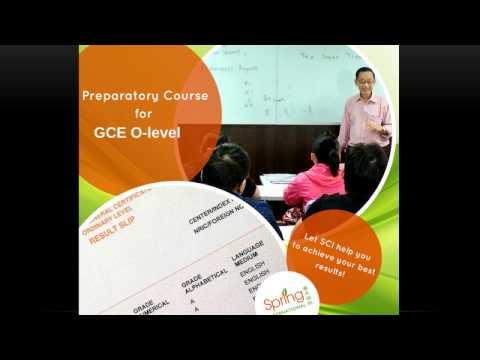 A better Understanding on Singapore-Cambridge 'O' Level