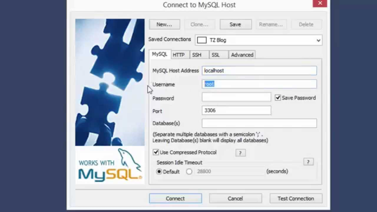 webrahost how to connect to mysql database