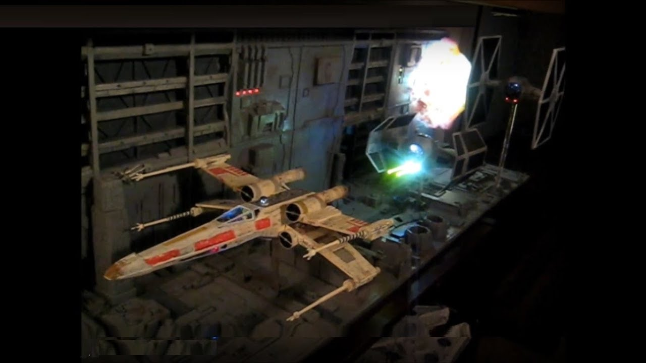 Lighted Star Wars Death Star Trench Run Diorama And