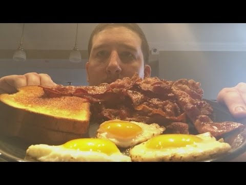 Bacon and Eggs and Beer (ASMR) (Mukbang)