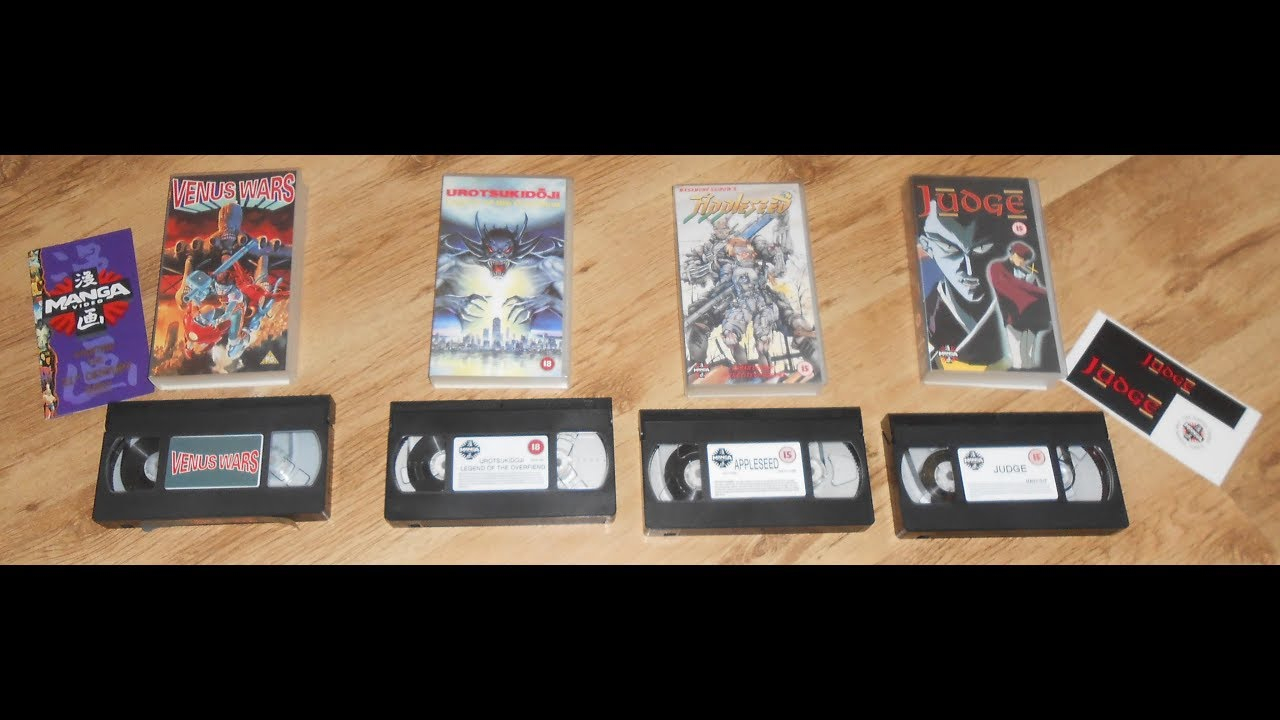 4 Manga Anime VHS Videos Rare Retro Venus Wars Urotsukidoji Appleseed Judge