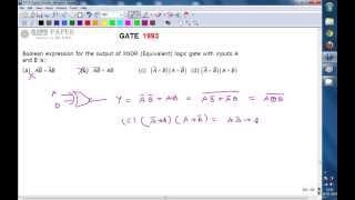 GATE 1993 ECE Output expression of 2 input EX-NOR gate