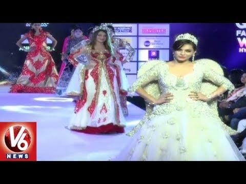 India Glam Fashion Week : Models Ramp Walk In Western & Traditional Wear | Hyderabad | V6 News