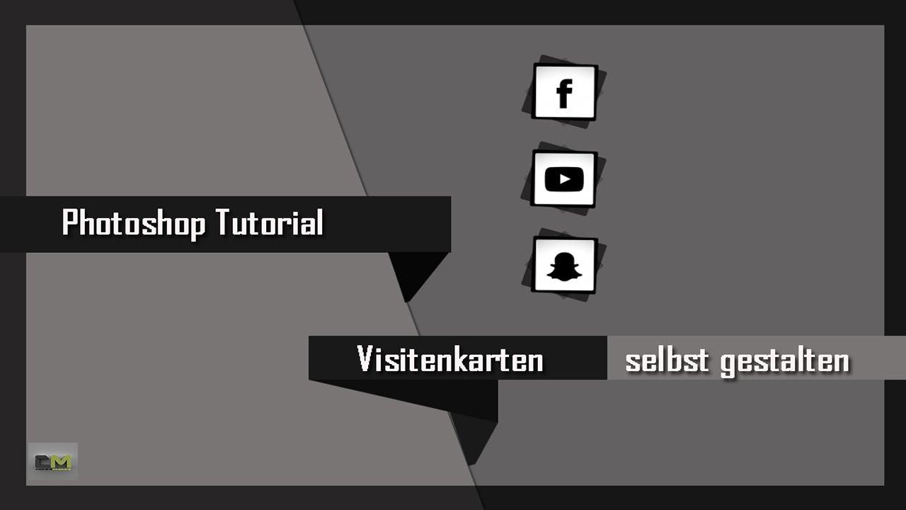 Visitenkarten Selbst Gestalten Photoshop Tutorial 2019 Youtube