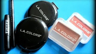 DollarTree Reviews: LaColors Makeup ((Pressed Powders, Mascara, Blushes & Auto Eyeliner))