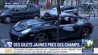 Gilets jaunes: les images de dégradations dans le quartier de l'Étoile à Paris