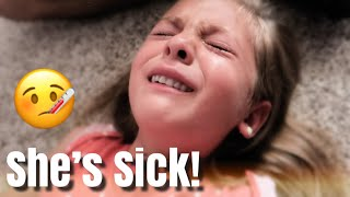 SHE'S SICK AND CONTAGIOUS! - VERY EMOTIONAL / SHE GOT SENT HOME FROM SCHOOL IN TEARS thumbnail
