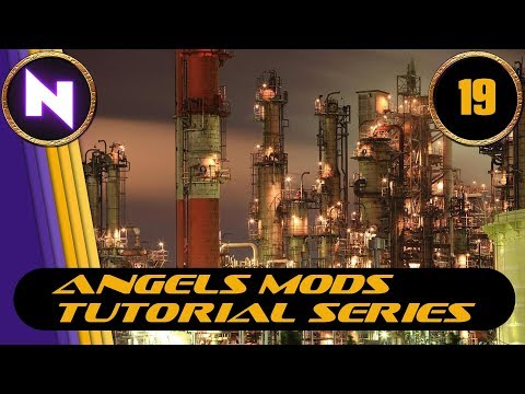Factorio 0.16 - Angels Mods Tutorial Lets Play #19 SLAG TO MINERAL CATALYST