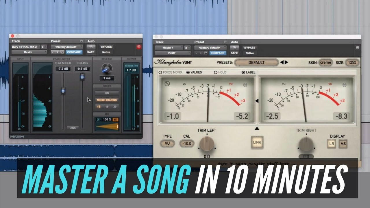 How To Master A Song In 10 Minutes - RecordingRevolution com
