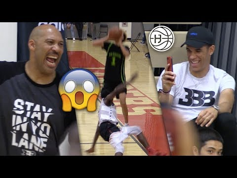 LaMelo Ball BREAKS Defender and Hits Half Court BUZZER BEATER!Drops 40 In Front of Lonzo and Lavar!
