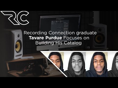 Recording Connection graduate Tavare Purdue Focuses on Building His Catalog