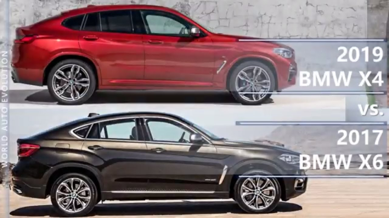 2019 Bmw X4 Vs 2017 Bmw X6 Technical Comparison Youtube