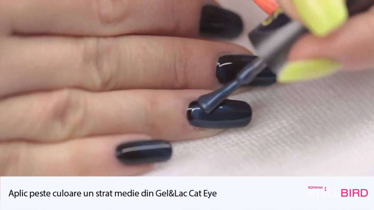 Tutorial Cat Eye Gellac Oja Permanenta Brillbird Youtube