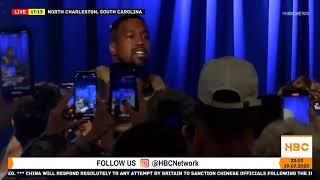 Rapper Kanye West holds campaign event in South Carolina
