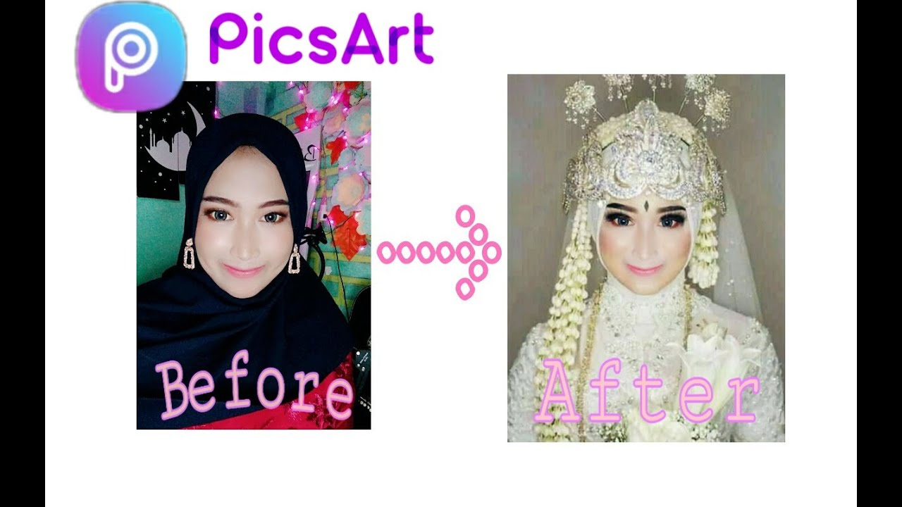 Tutorial Edit Foto Menjadi Pengantin Edit Foto Di Picsart Part 1 Youtube