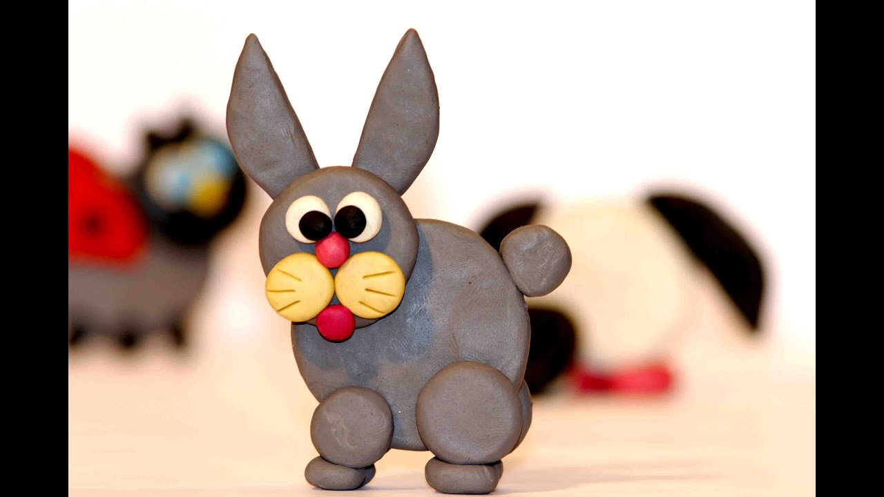 Lovely Clay Craft Ideas For Kids Part - 1: Diy Kids Craft. Clay Craft Ideas. Plasticine Hare. Art And Crafts For Kids  - YouTube
