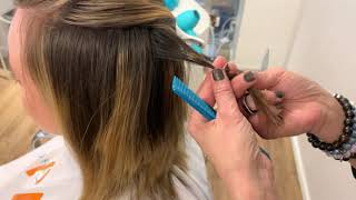 Cutting Techniques From Liza Espinosa At Moroccanoil Academy