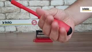 Отвертка с набором бит диэлектрическая Felo 02091206