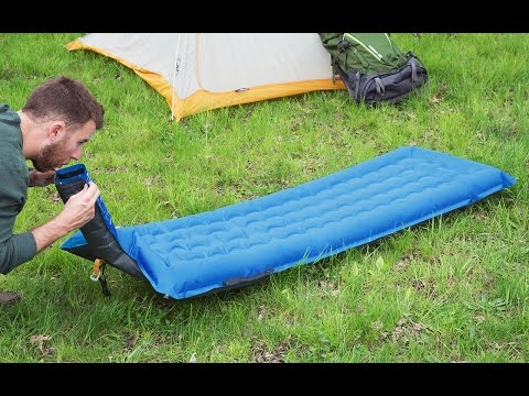 Blow towards this air mattress. Watch it inflate like magic.