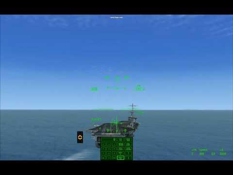FSX Carrier Landing, Sludge Hornet - Second Pass, one Ball high, 3 Wire