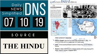 Daily News Simplified 07-10-19 (The Hindu Newspaper - Current Affairs - Analysis for UPSC/IAS Exam)