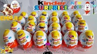 NEW Emoji Kinder Joy Surprise Eggs! April 2018