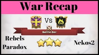 13 War Win Streak - Clash Of Clans War Recap