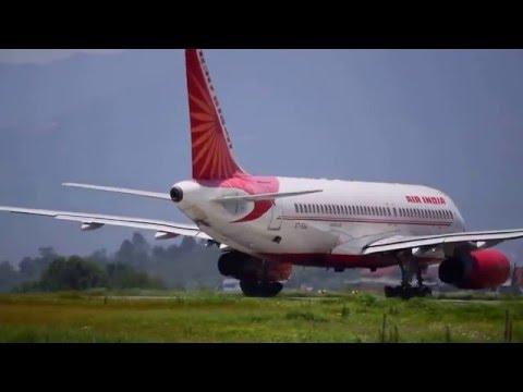 Air India Airbus A320 Takeoff from Kathmandu (Tribhuvan International Airport)