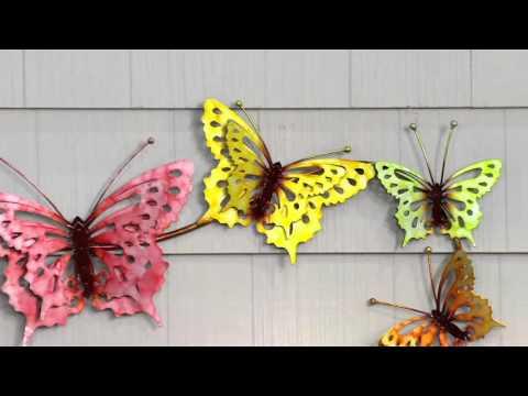 Plow & Hearth Watercolor Butterfly Wall Art on QVC