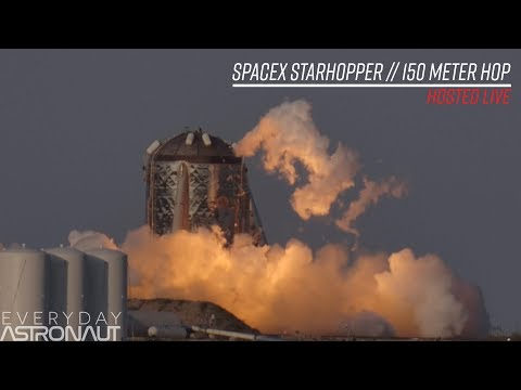 SpaceX StarHopper 150 meter hop test HD (LOUD)(LIVE 1.5 miles away)
