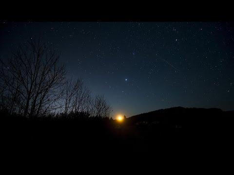 Lluvia de meteoros iluminó el cielo con unas 100 estrellas fugaces