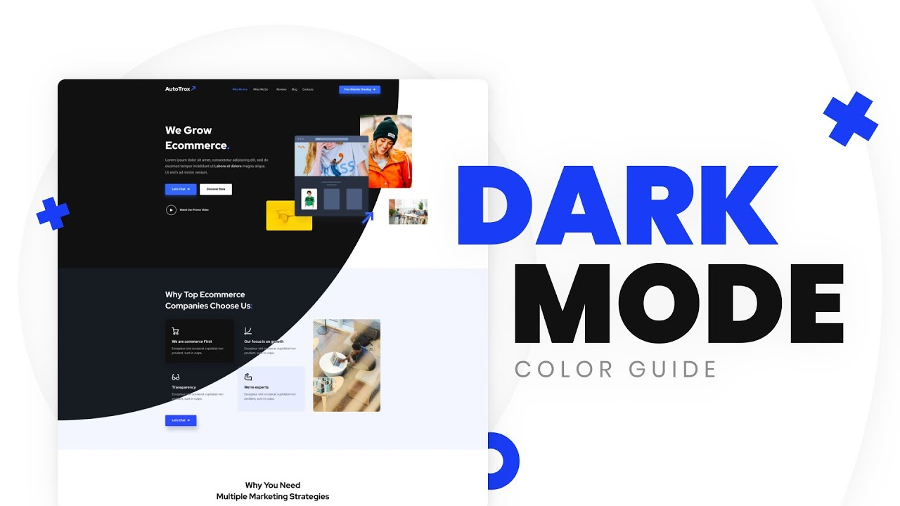 Dark Mode Ui Design Color Palette How To Pick The Right Colors For Dark Theme Templatemonster Youtube
