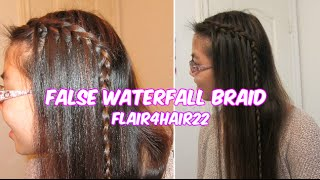 False Waterfall Braid {Much Easier But Same Look!}