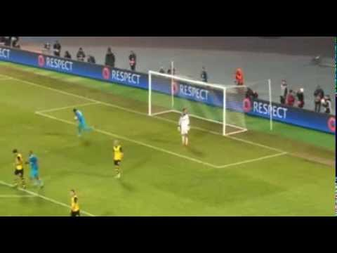 Goal Hulk Penalty Zenit 2 vs 3 Borussia Dortmund 2-4 Champions League 25 02 2014 HD