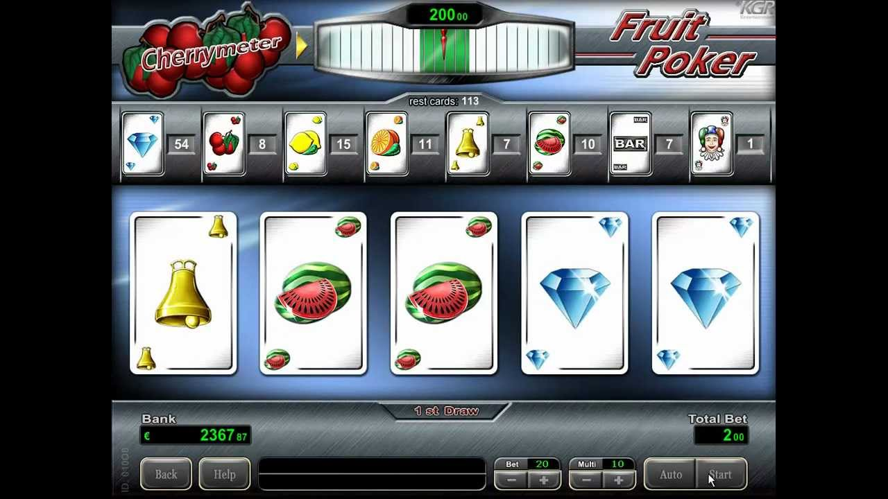 Fruit poker free