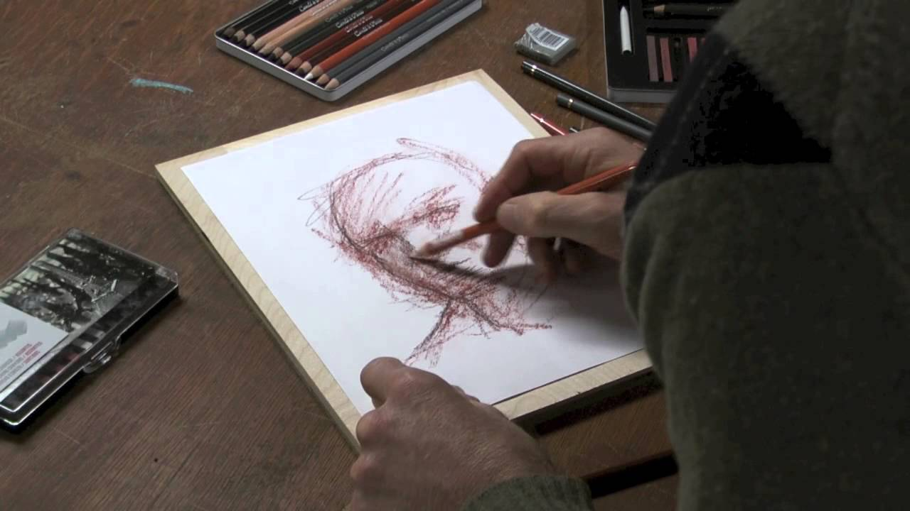 Pencil sketch up close masturbation - 1 3