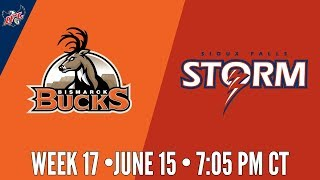 IFL Week 17 | Bismarck Bucks at Sioux Falls Storm