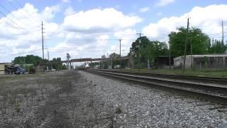 Dump Truck Breaks Gate! & Amtrak 19 Blows through! (Bessemer AL) 5-8-13