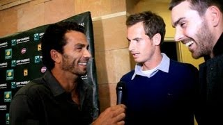Andy Murray Grilled By Fleming & Rojer