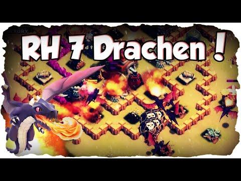RH 7 Drachen 3 Sterne Taktik!   CLASH OF CLANS #029   Clankrieg Drachen Angriff! (Deutsch / German)